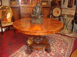 73. Антикварный Круглый стол. Около 1870 г. 120х74 см. Цена 2800 евро