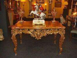 77. Антикварный Стол. Около 1870 г. 129х79х78 см. Цена 12000 евро