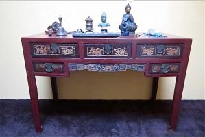 80. Антикварный Стол. Около 1900 г. 125х55х90 см. Цена 2500 евро