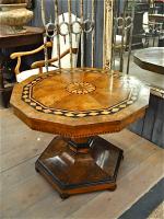87. Антикварный Стол с маркетри. 19 век. 94x70 см. Цена 4500 евро