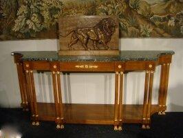 Антикварная Консоль в стиле Ампир. Около 1880 г. 241x52x100 см. Цена 4500 евро