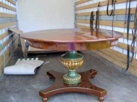 Антикварный Круглый стол в стиле Бидермейер. Агрентина. 19 век. Цена 2500 евро