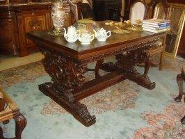 Антикварный Раскладной стол. 19 век. 140-260x100x78 см. Цена 3500 евро