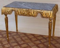 Антикварный Стол каменная столешница. Около 1850 г. 120x69x88 см. Цена 4000 евро