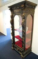 22. Антикварная резная витрина. 19 век. 81x203x61 см. Цена 4500 евро.