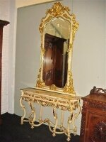 10. Антикварное Зеркало с консольным столом. 19 век.