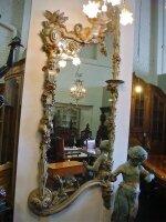 1. Антикварное Настенное резное зеркало. 19 век. 230x94 см. Цена 6000 евро.