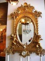 2. Антикварное Настенное зеркало. 19 век. Цена 5000 евро.
