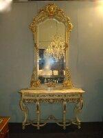 Антикварная Консоль с зеркалом. Около 1900 г. 305x153x46 см. Цена 5500 евро