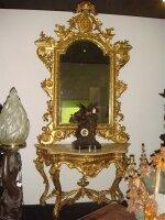 Консоль Антикварная с зеркалом. 19 век. Цена 15000 евро