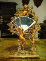 Антикварное Наcтольное зеркало. Дерево, резьба. 19 век. 50x45 см. Цена 2500 евро