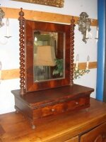 Антикварное настольное зеркало. 19 век. 60x60x30 см. Цена 1000 евро