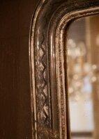Настенное Антикварное Зеркало в посеребренной раме. Период Луи Филиппа. Франция. 120x75 см . Цена 1700 евро