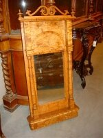 Антикварное зеркало. 19 век. Карельская берёза 114x57x12 см. Цена 1300 евро